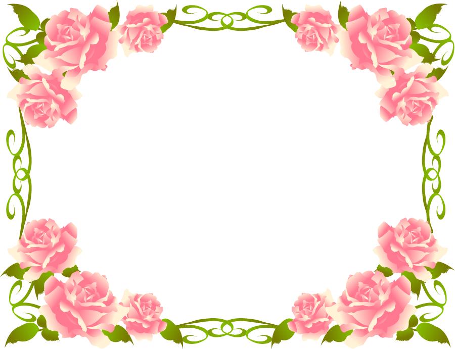 フリーイラスト バラの花の飾り枠 Cvetia 飾り枠 花の飾り バラ