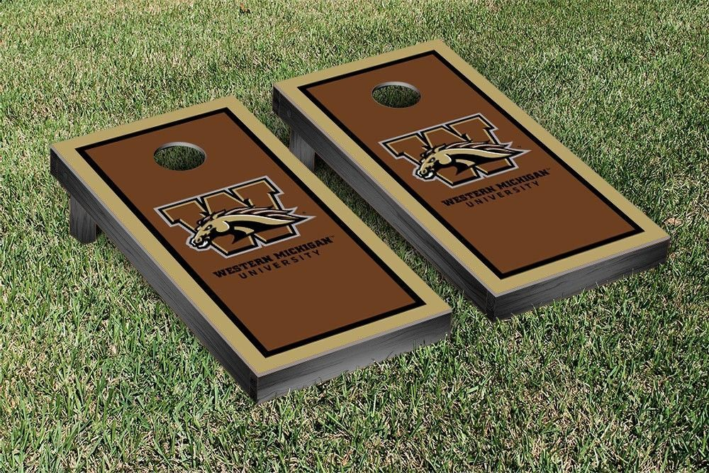 Western Michigan Broncos Framed Border Cornhole Toss Game