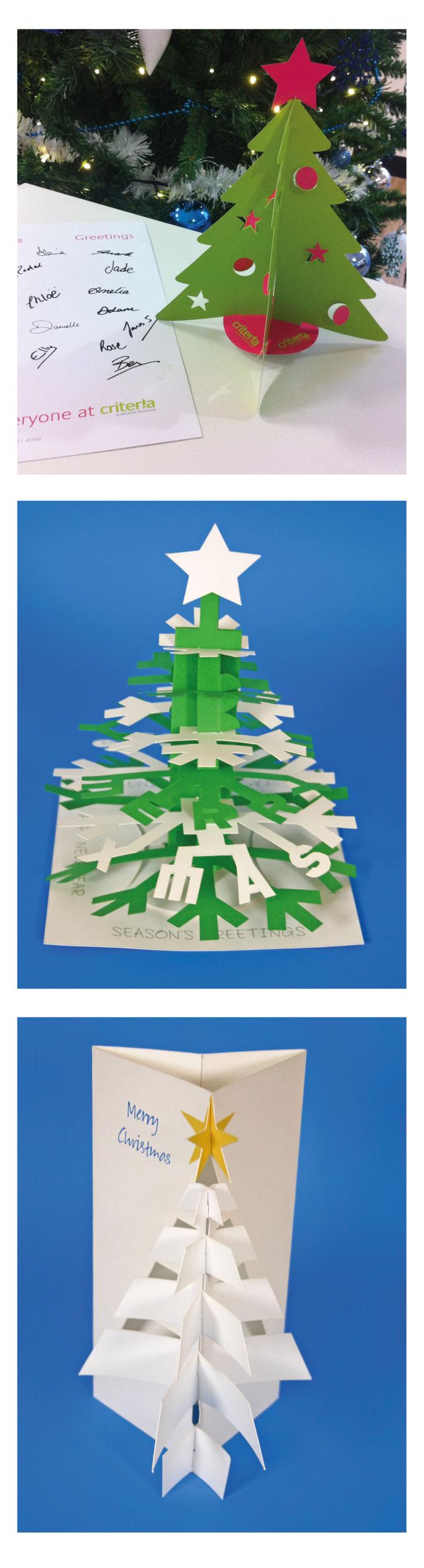 i selection of pop up christmas trees i created