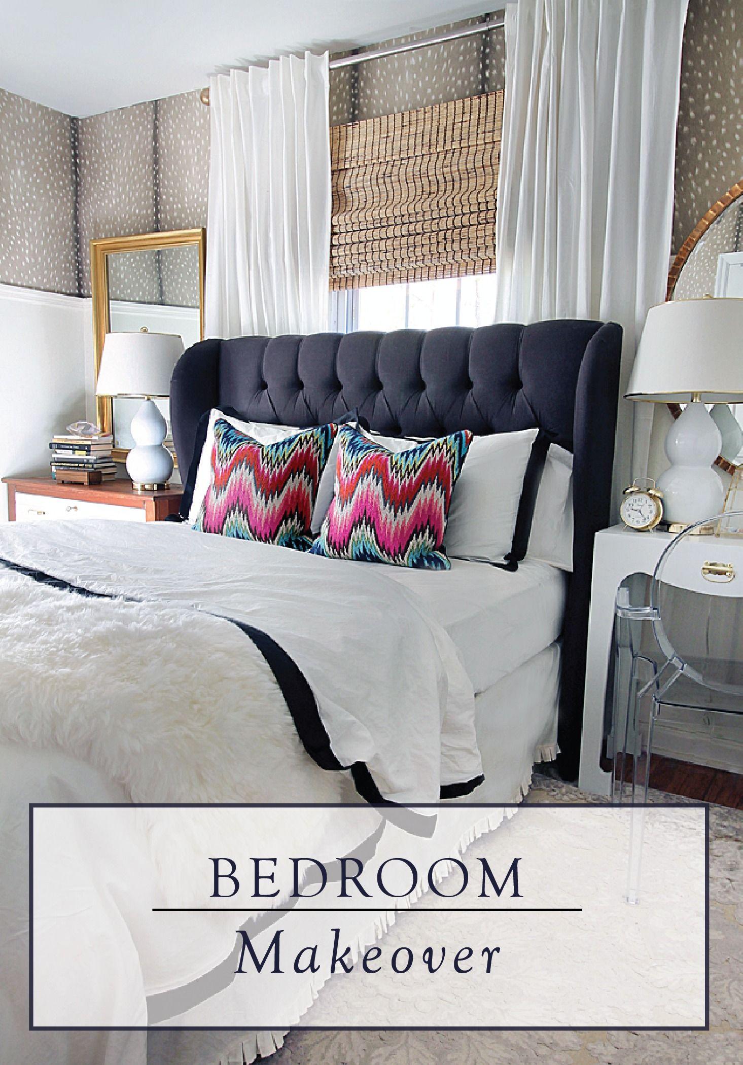Diamond Tufted Wingback Headboard And Upholstered Bed Frame Etsy Black Upholstered Bed Black Headboard Bedroom Upholstered Bed Frame