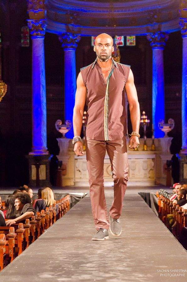 Cocody Collections for the Black Fashion Week Montreal 2014 - Men No Sleeves Shirt