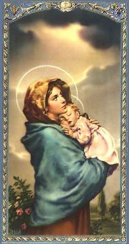 Madonna and child. I used this picture as my focal point when in labor with my 1st child. It is my favorite picture.