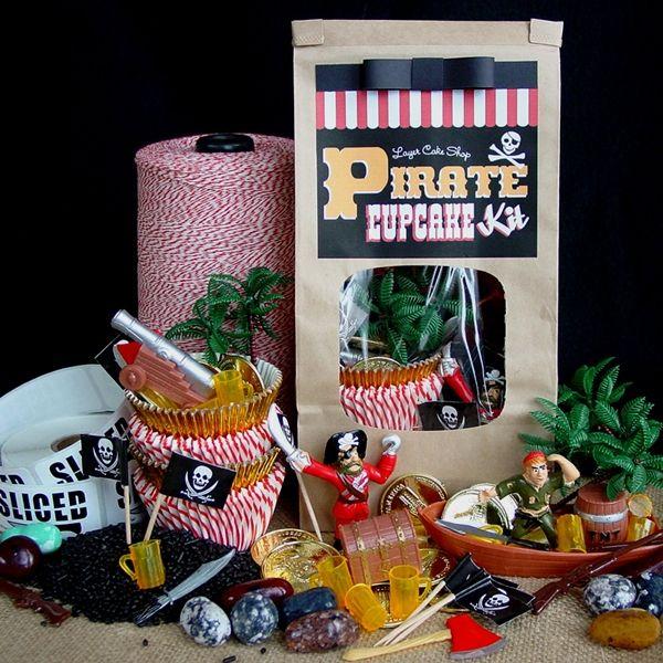 Pirate Cupcake Topper Kit