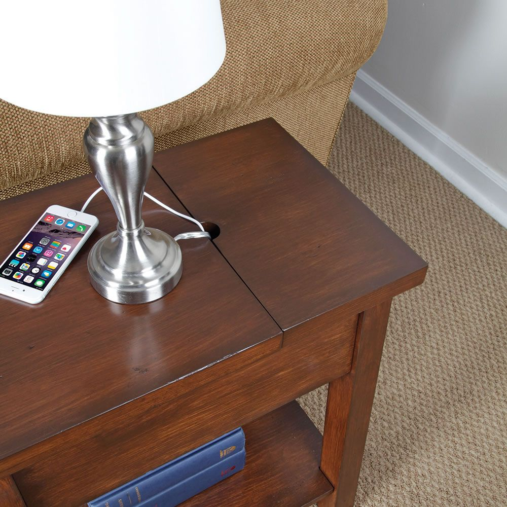 50 End Table With Charging Station Contemporary Modern Furniture Check More At Http