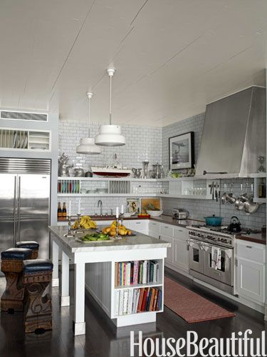 New York Loft Kitchen. Design: Steven Sclaroff. Photo: Francois Dischinger.  Housebeautiful.com