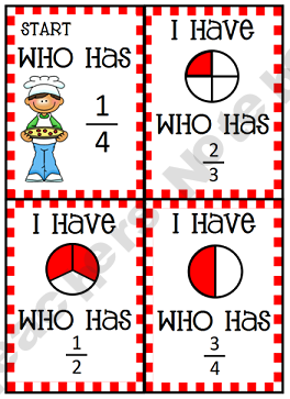 """This is a digital download for three $. Love these """"I have ____, who has _____."""" Really see which kids understand. Could make and adapt to any conc…"""