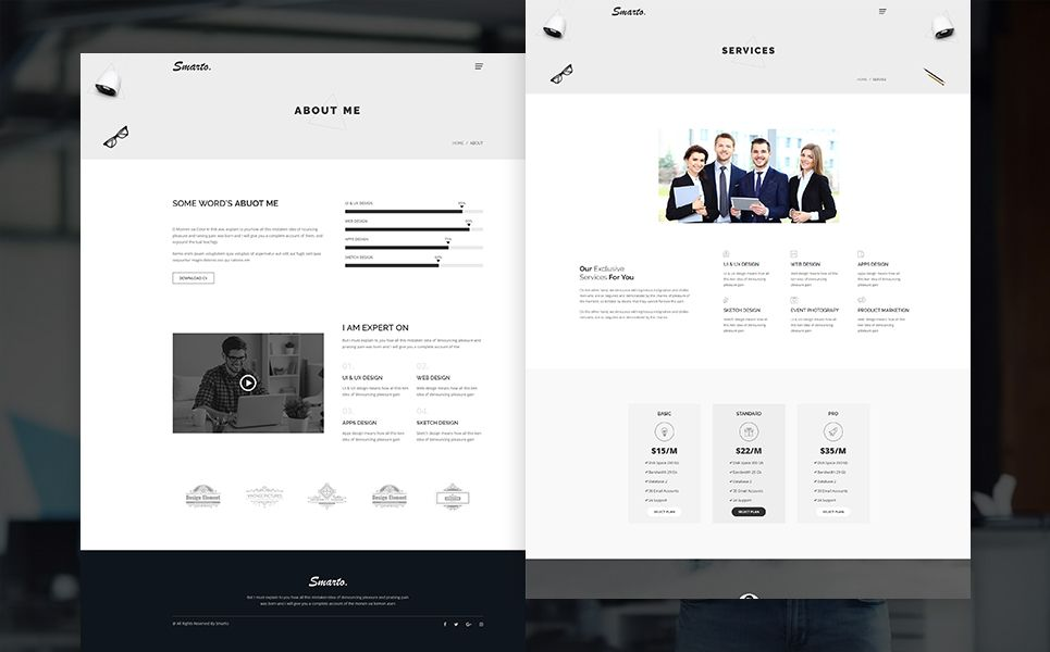 Smarto Creative Portfolio Website Template 69070