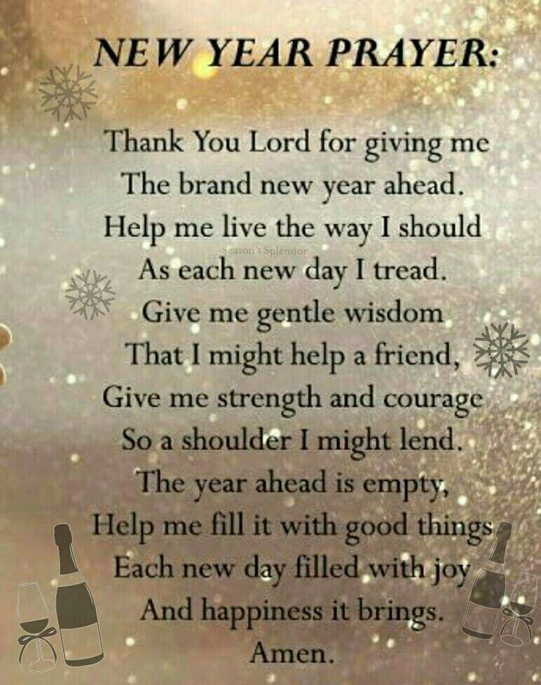 Nice prayer Quotes about new year, Happy new year quotes