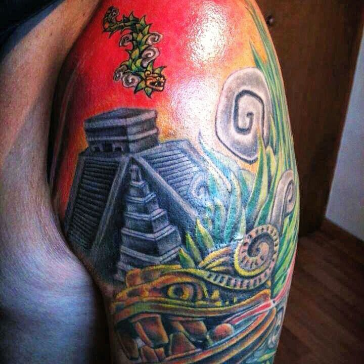 Tatuaje Ceremonial De Pirámides De Quetzalcoatl Teotihuacan Danza