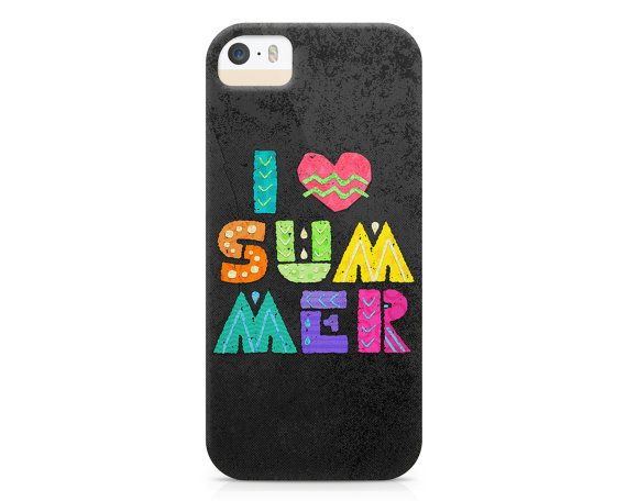 I Love Summer Phone Case Bright and Fun Phone by NoondaybyTracey