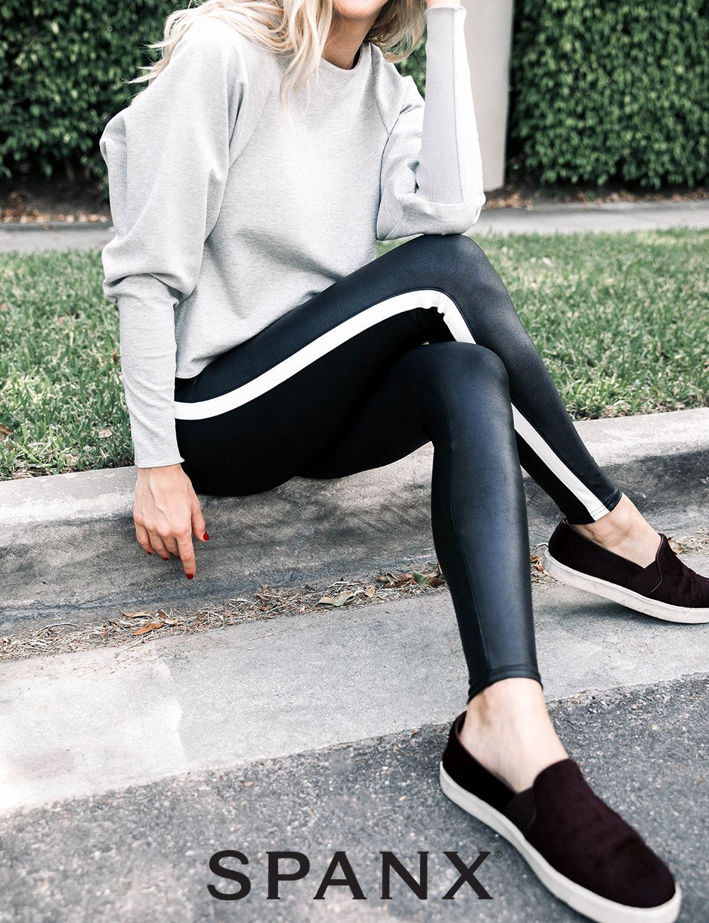 76d1e4fef2dc2 Shop our Faux Leather Side Stripe Leggings designed for style and comfort.