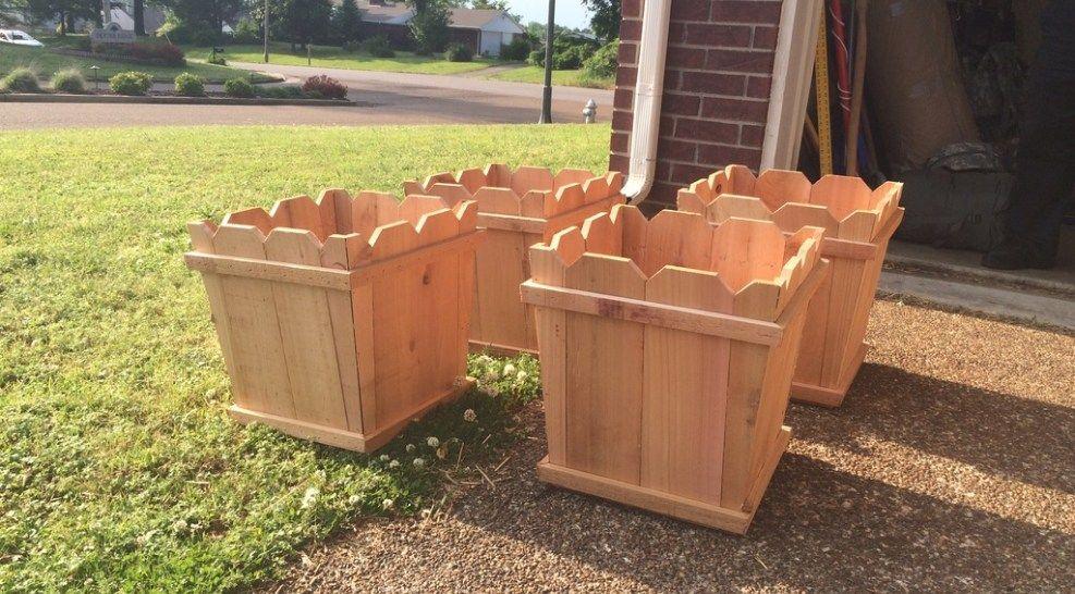 Cedar fence picket planter boxes cedar fence pickets