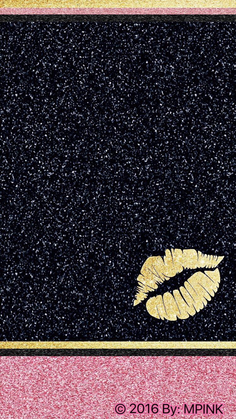 © 2016 Glitter Lips Wallpaper Lip wallpaper, Glitter