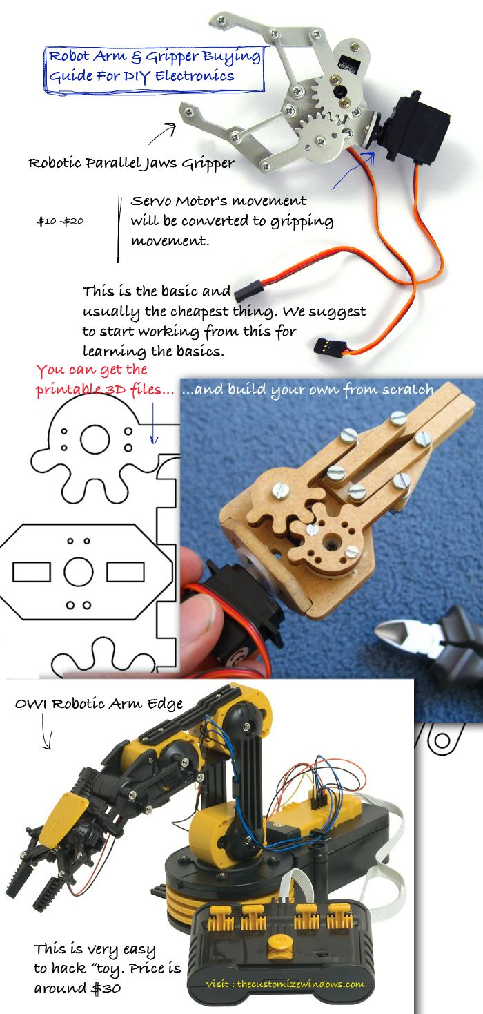 Robot Arm Gripper Buying Guide For Diy Electronics Technology Simple Electrical Circuit Doing It Yourself Many Toys Kids Are Great To Mod Use With Arduino Raspberry Pi Or Others Here Is