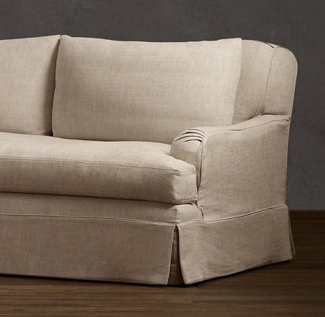Belgian Classic Roll Arm Slipcovered Sofas: Remodelista