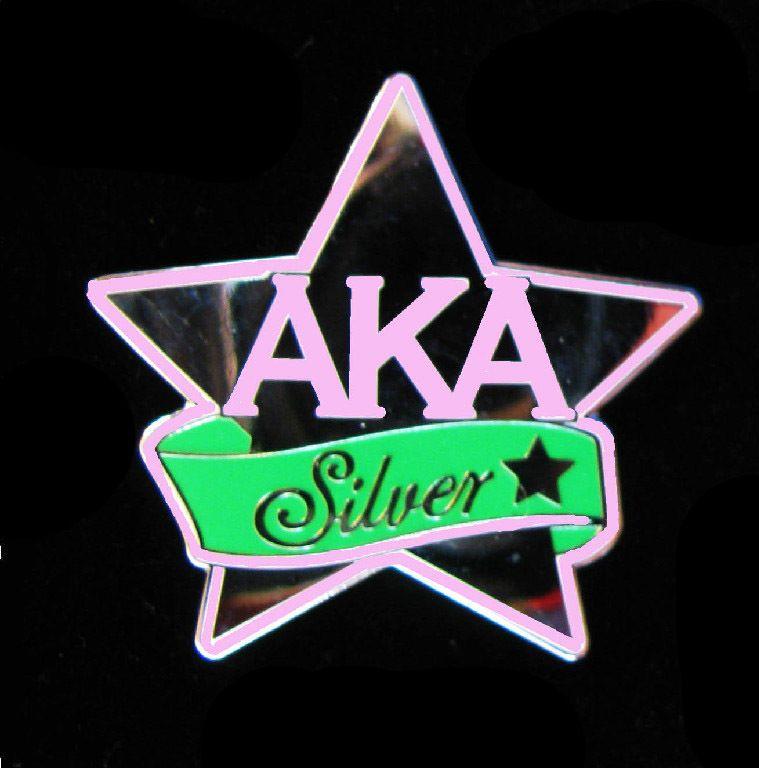 Alpha Kappa Alpha AKA Sorority Silver Star Pin