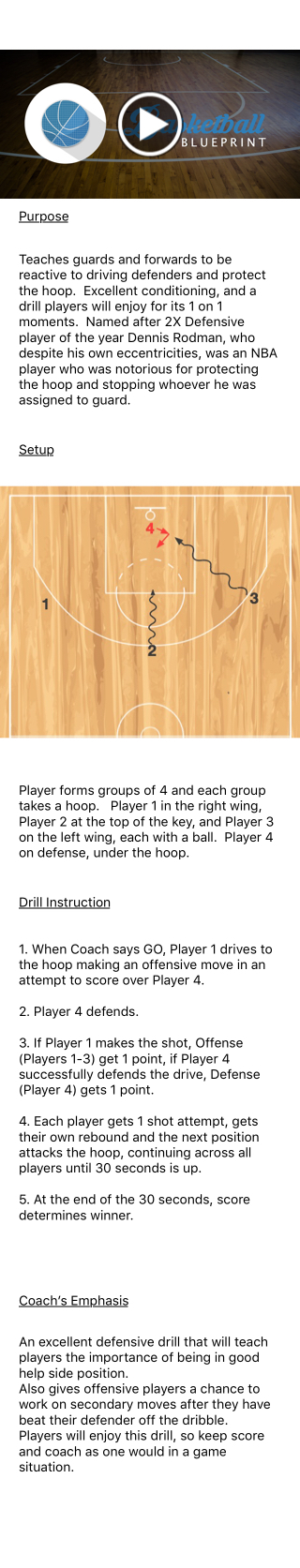 Check out dennis rodman drill from my new app basketball check out dennis rodman drill from my new app basketball blueprint malvernweather Choice Image