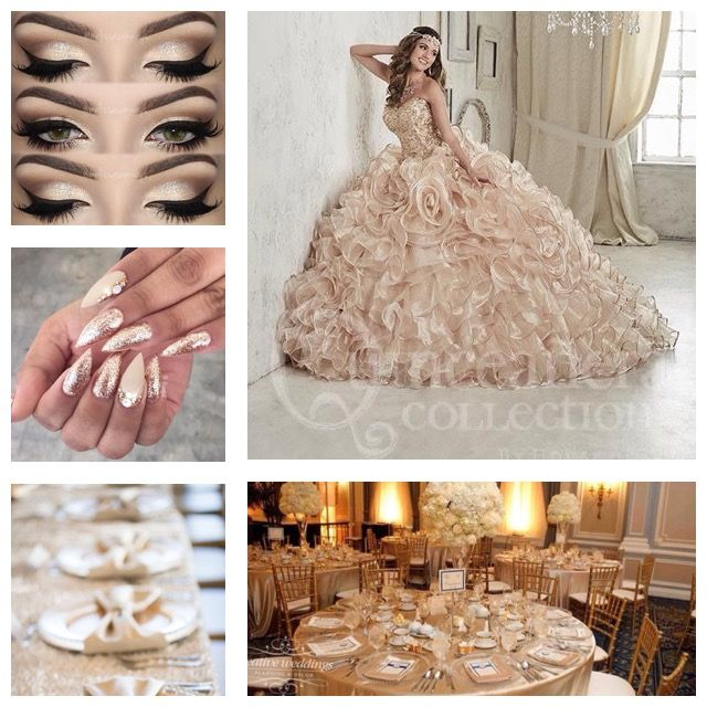 25 Best Ideas About Champagne Colored Wedding Dresses On: Quince Theme Decorations