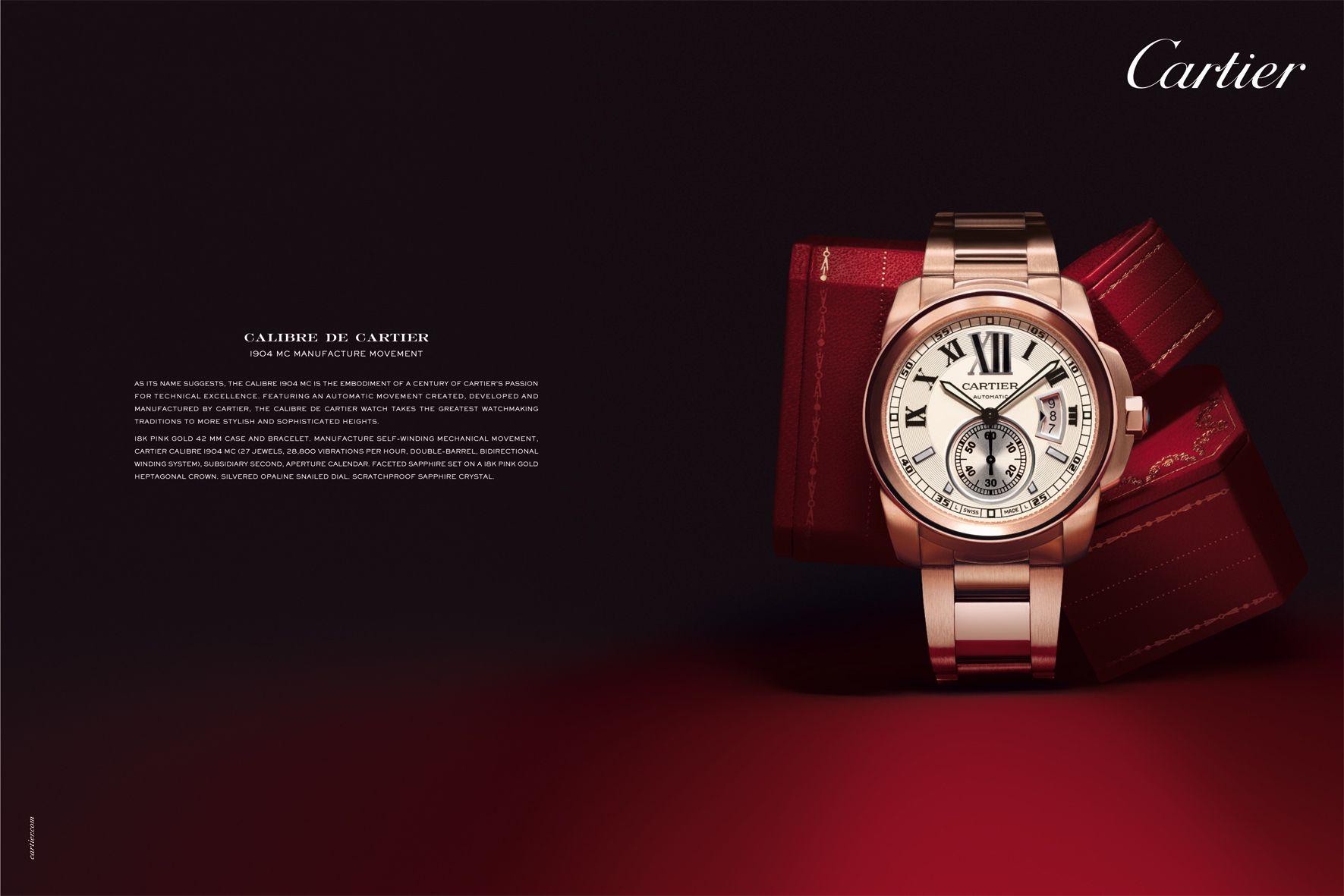 Calibre De Cartier Advertising Womens Watches Cartier Men Luxury Advertising