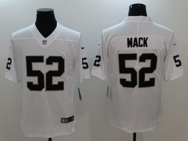 Men Oakland Raiders 52 Mack White Nike Vapor Untouchable Limited NFL Jersey f4f137dd3