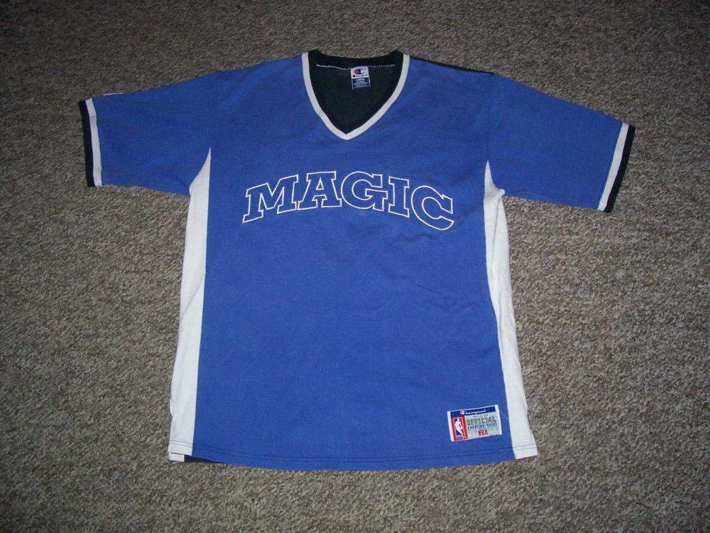 485be30ea Vintage Orlando Magic NBA Champion Official Shooting Shirt Jersey-Large  (Used)  OrlandoMagic