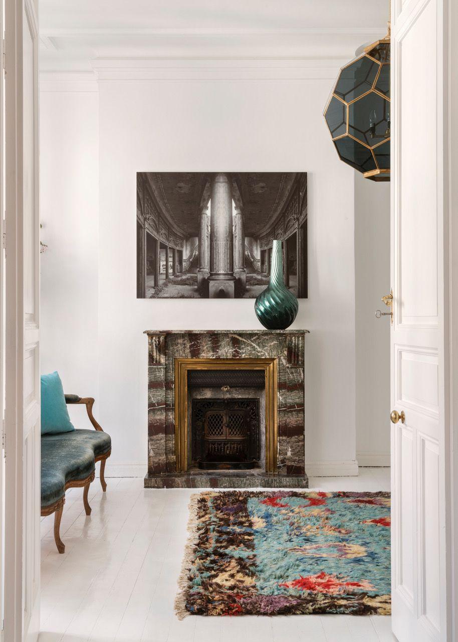Piso En Madrid Santa Barbara Maria Llado With Images Cosy Fireplace Living Room Designs Home Decor