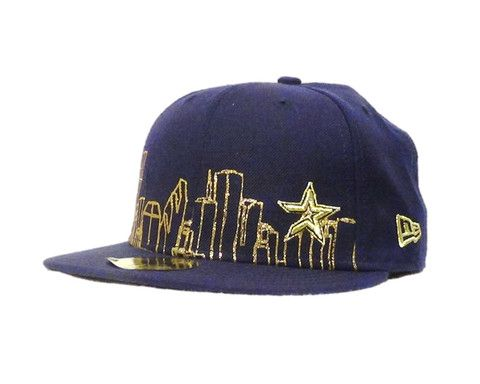 a9e491c2c38c6 Houston Astros Skyline New Era 59fifty Fitted Hat Blue