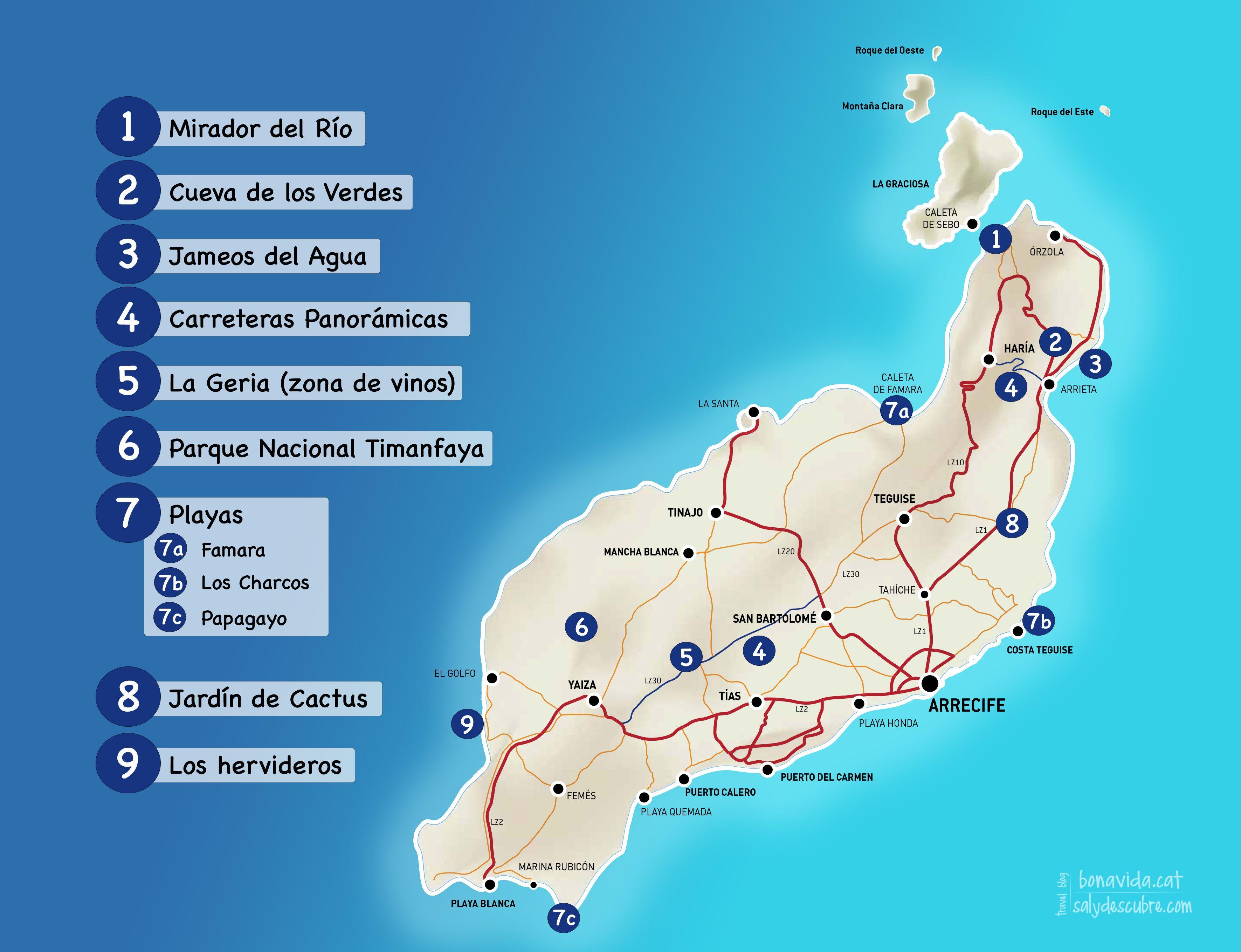 lanzarote mapa mapa lanzarote esp. (3543×2717) | Lanzarote | Pinterest lanzarote mapa
