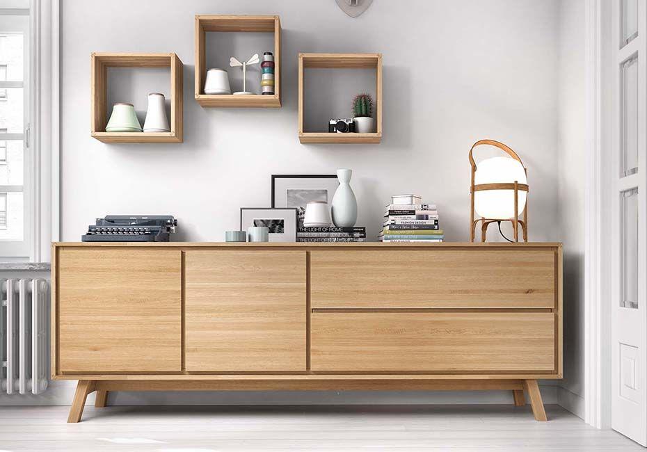 Dressoir Decoratie Ideeen : Design dressoir cayenne op poten met geborstelde deuren eik