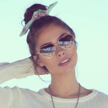 32bc6d7c107c8 oculos de sol femininos modelo coração   gafas de sol   Sunglasses ...