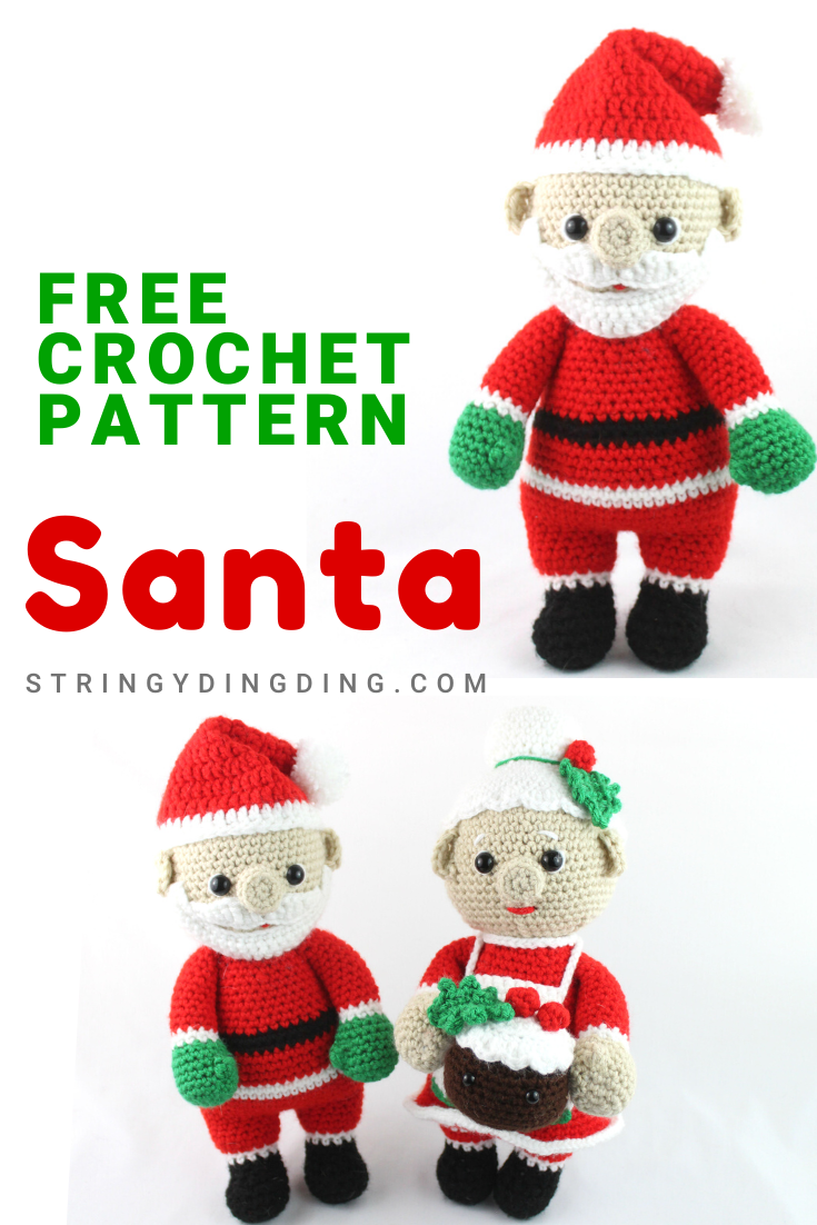 Crochet Santa Clause Ideas and Projects Free Patterns (com imagens ... | 1102x735