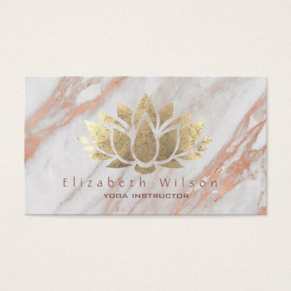 Faux gold foil lotus flower on marble business card elegant gifts faux gold foil lotus flower on marble business card elegant gifts gift ideas custom presents colourmoves