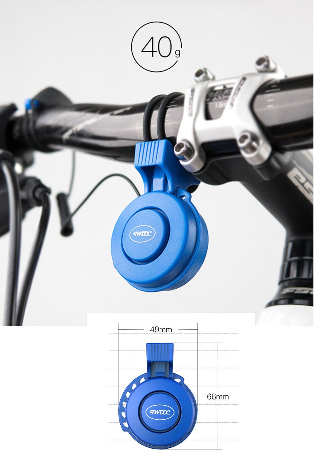 Electric Bike Horn Bike Bells 120 Db Invisible Bicycle Bell Road