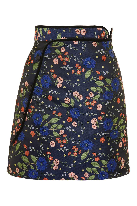 b912849f5f Floral Satin Jacquard Mini Skirt - New In Fashion - New In - Topshop USA