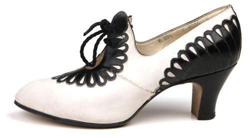 e3433d7782821 Black and white leather pumps, circa 1930s. #vintage #1930s #shoes ...