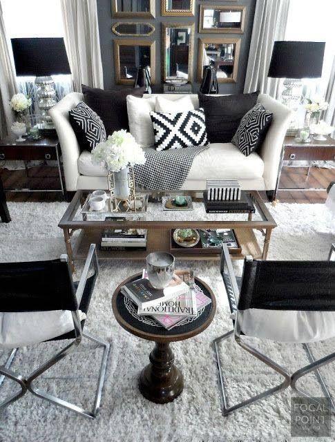 Classic Black And White Decor Beneath My Heart Black And White Living Room White Decor White Living Room