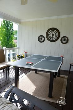 DIY Ping Pong Table & DIY Ping Pong Table   Ping pong table Basements and Game rooms