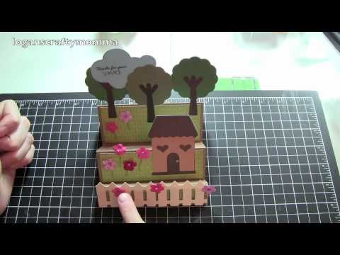 Very Cute House Card Video Step Card Also Posted On Youtube Is The How To Video To Make This Card Center Step Cards Step Cards Cards Handmade