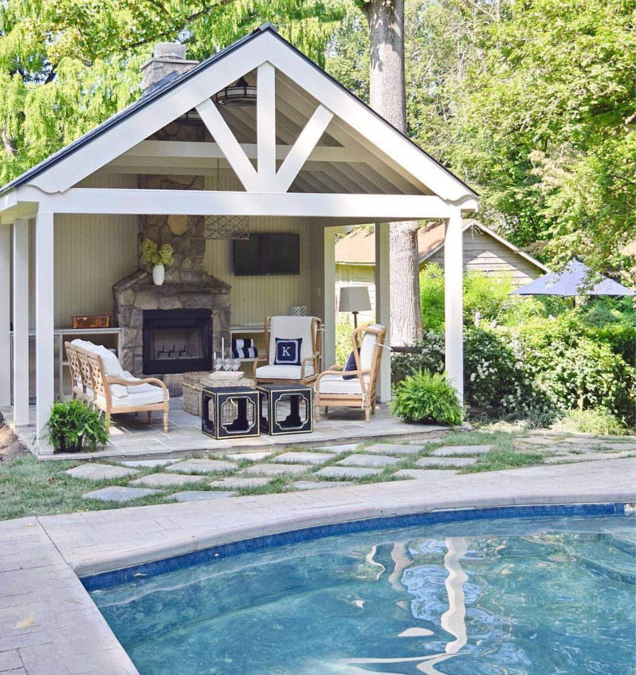 Pool House Backyard Pavilion Pool House Designs Pool Houses Backyard pool house designs