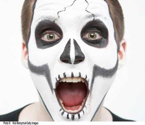 costume face paint Halloween Ideas Pinterest Ghost face paint - face painting halloween ideas