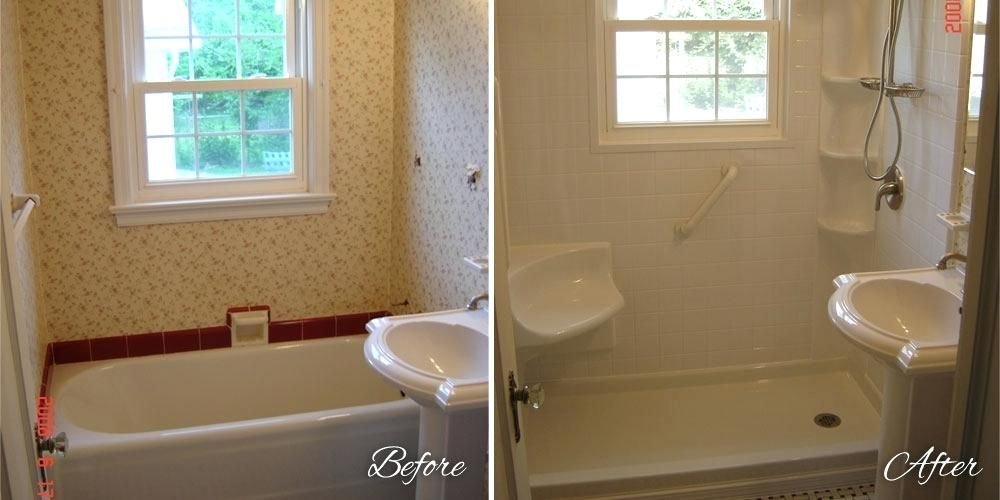 Replace Tub With Shower Pan.Outstanding Best Tub To Shower Images On Bathroom Ideas