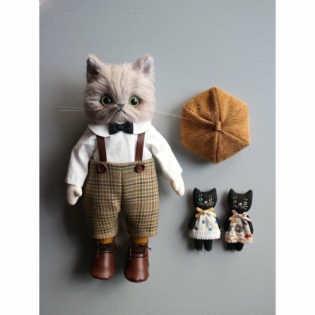 パリcoはinstagramを利用しています 白シャツ蝶ネクタイコーデも 作ってみました handmadecat お人形のお人形 doll ハンドメイド catdoll 猫雑貨 kitte animal dolls cat doll dolls handmade