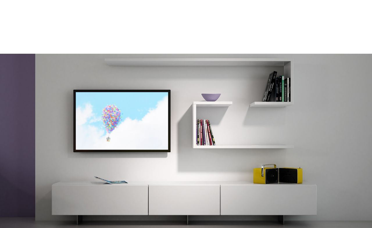 Aménagement Home cinema - Blanc | home decor | Pinterest | TVs, Tv ...