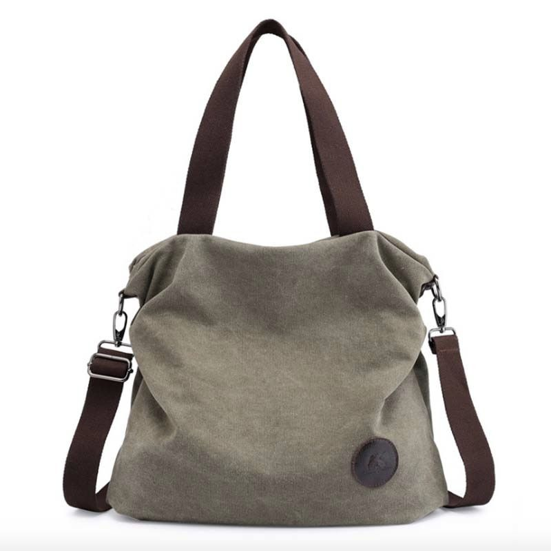 39a8905a8afd5 Save Big! Large Pocket Casual Tote Women's Handbag Shoulder Handbags Canvas  Leather Capacity Bags For Women - Elebags Online Shopping For Bags,Women's  Bags ...