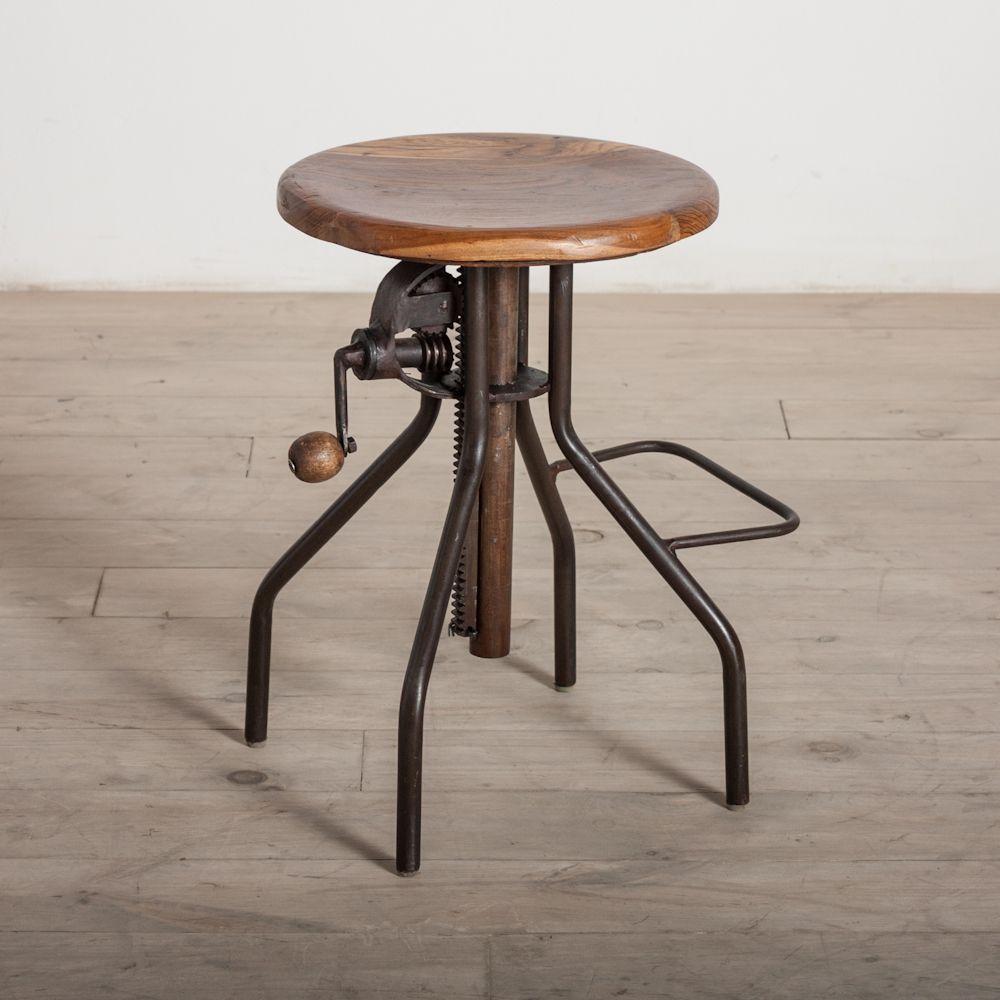 adjustable crank bar stool india overstock