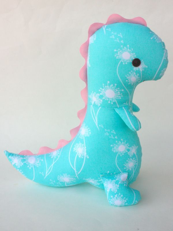 Dinosaur Sewing Pattern : dinosaur, sewing, pattern, Tommy, T-Rex, Pattern, Sewing, Stuffed, Animals,, Toys,, Fabric