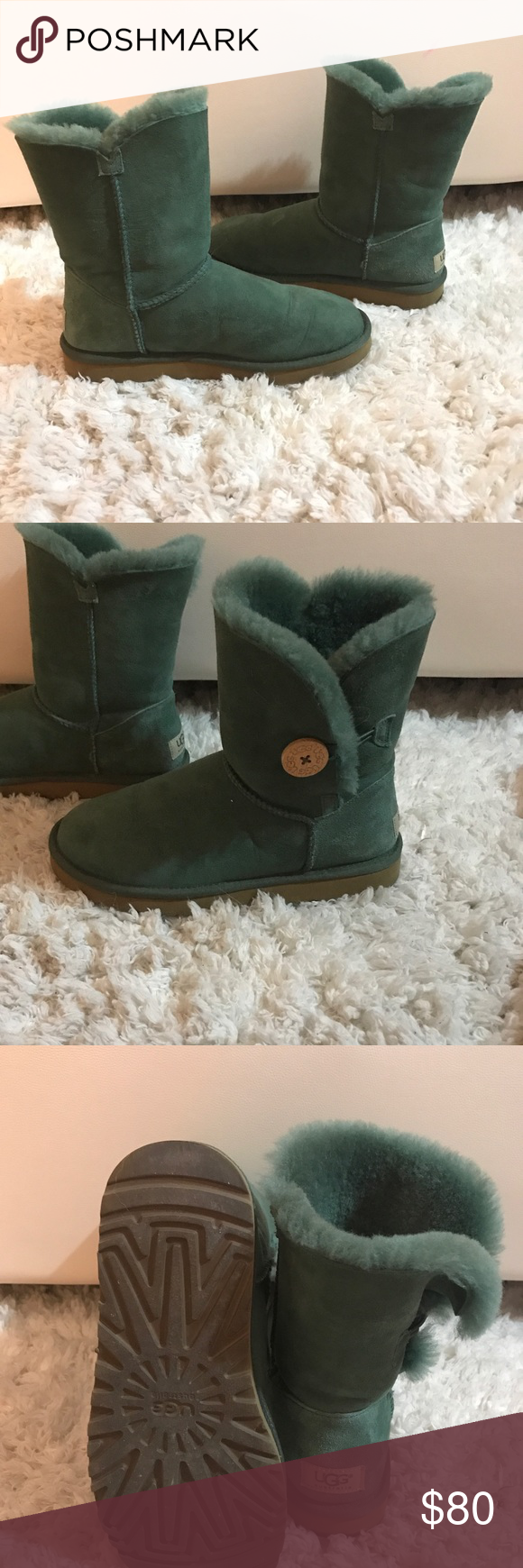 4cd38ea31fb Dark green uggs Like new only worn twice in great condition inside ...