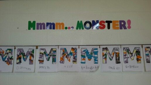 Letter Mm week in October means Hairy Monsters!