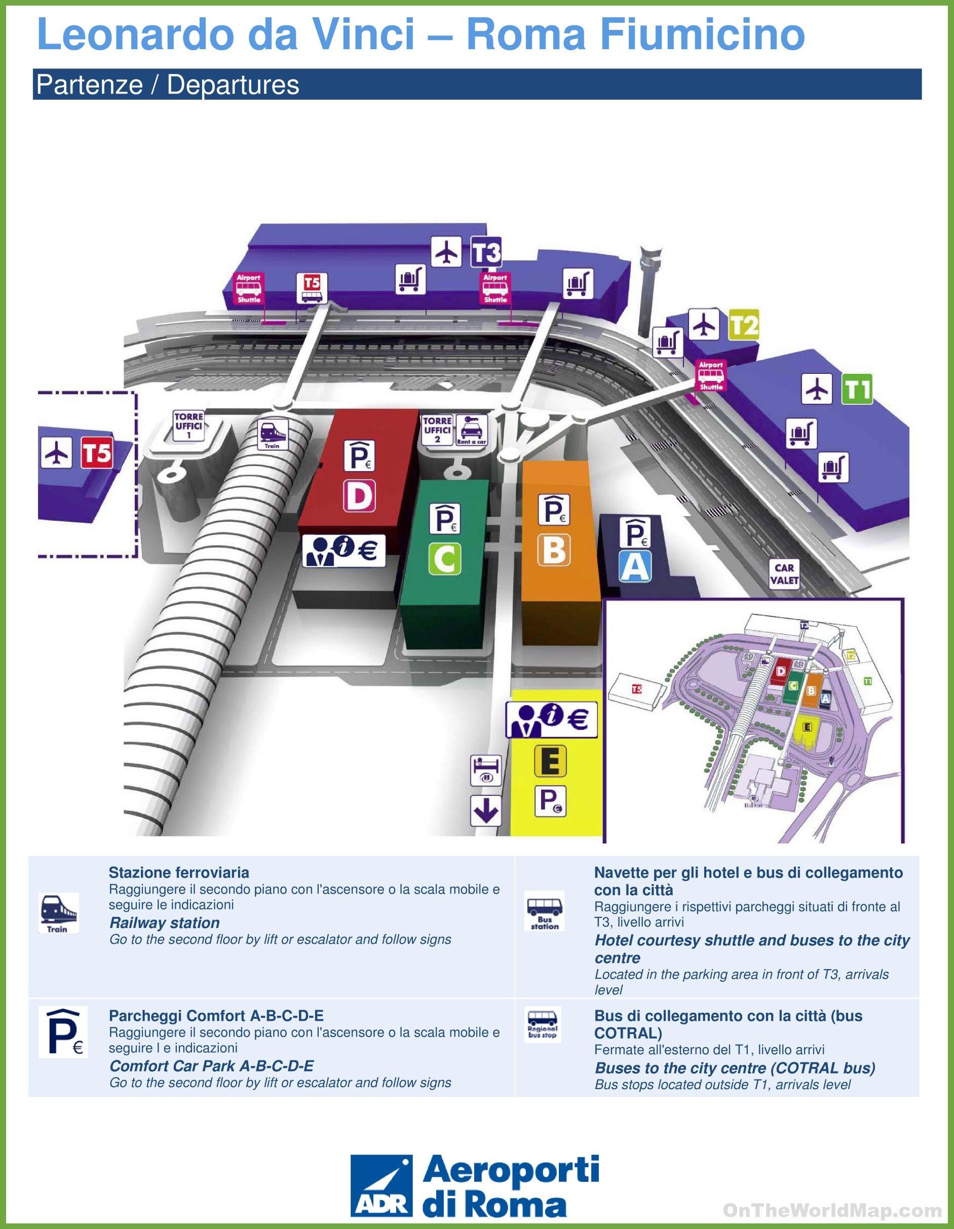 Fiumicino airport map httpontheworldmapcomitalycityfiumicino