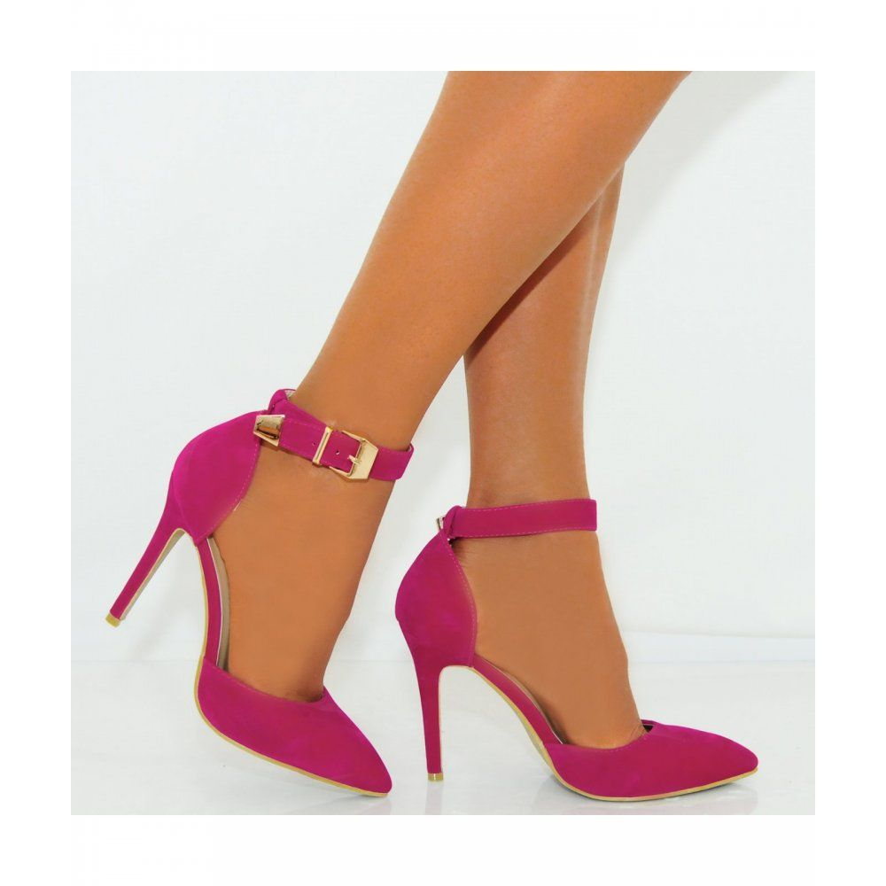 Strappy Pink High Heels